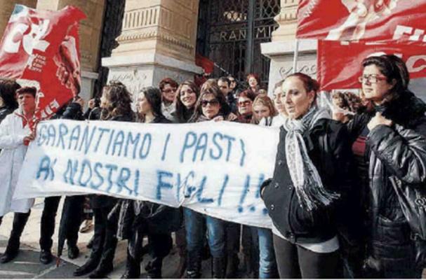 Messina protesta mense