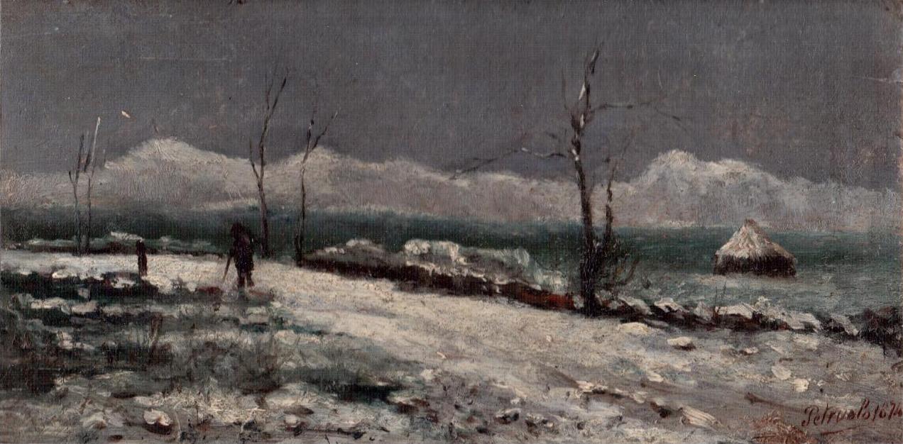 PETRUOLO Salvatore, Paesaggio innevato, 1874