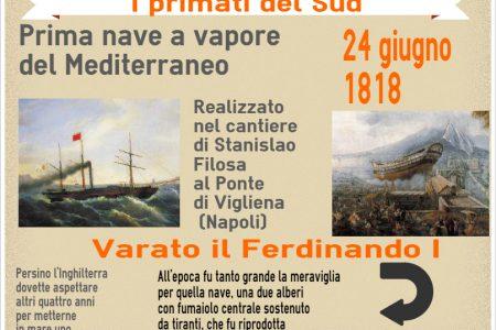 I primati del Sud, la prima nave a vapore del Mediterraneo