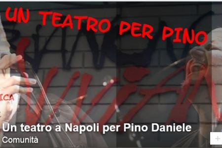 Un teatro per Pino, su Facebook una pagina dedicata all'iniziativa