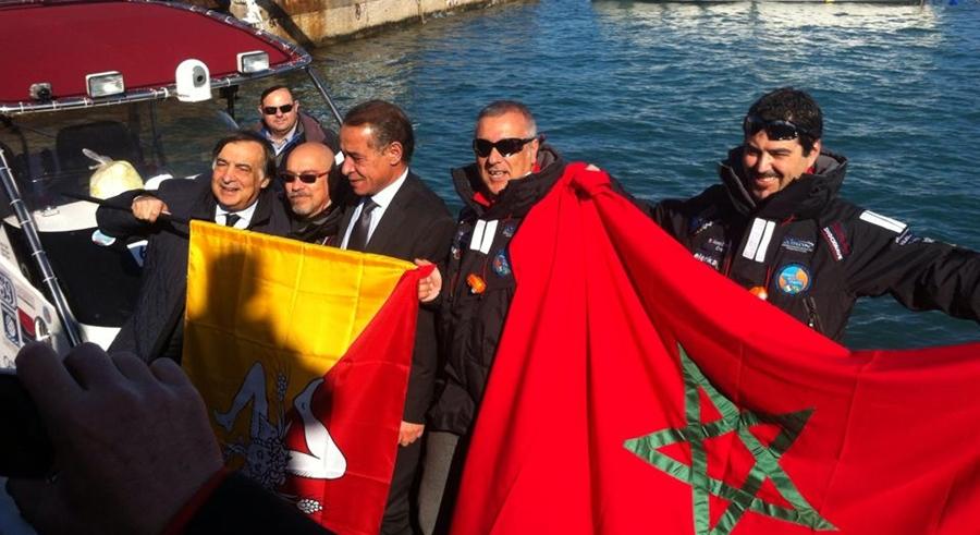 Palermo-Rio in gommone, cominciata l'avventura