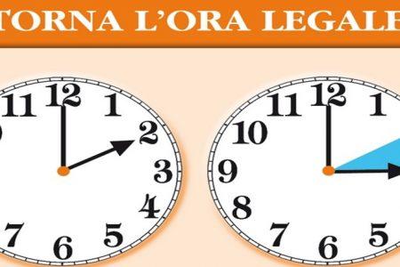 Ti sei ricordato di portare avanti le lancette dell'orologio?