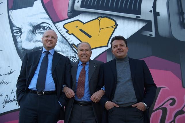 Da sinistra Vincenzo Boccia, Orazio Boccia e Maurizio Boccia
