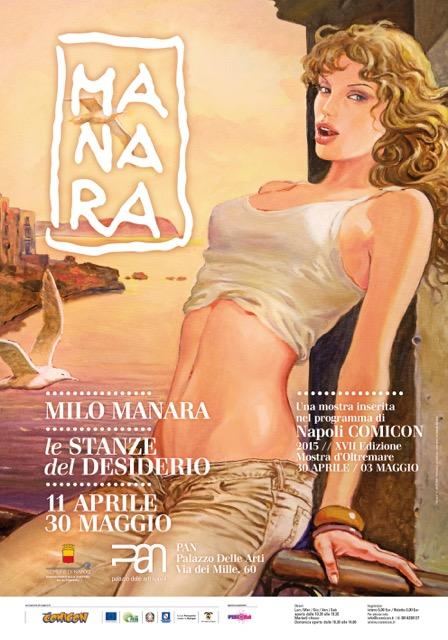 Milo Manara a Napoli, porte aperte alle stanze del desiderio