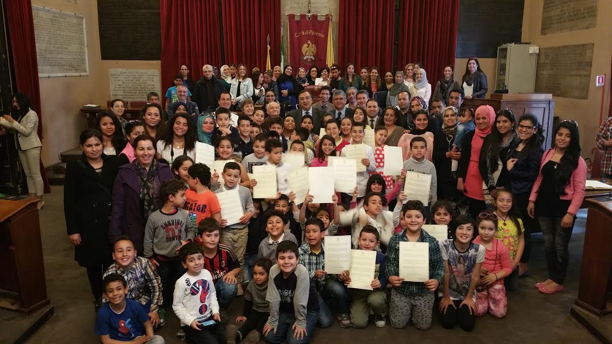 Palermo, cittadinanza onoraria a studenti di una scuola tunisina