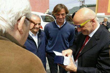 Gli ex allievi della Nunziatella al Rione Terra: c'è anche l'ex ministro Parisi
