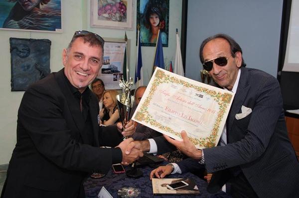 Filippo Lo Iacono, premiato a Cesenatico come uno dei migliori artisti dell'anno