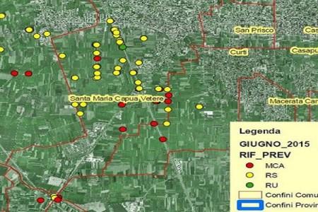 La mappa dei rifiuti a S. Maria Caputa Vetere, in un mese 36 siti scoperti dall'Arpac