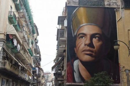 """Inaugurata a Napoli la gigantesca opera """"Gennaro"""" a Forcella"""