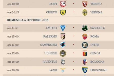 Serie A, le partite e gli orari: alle 20 e 45 Milan-Napoli