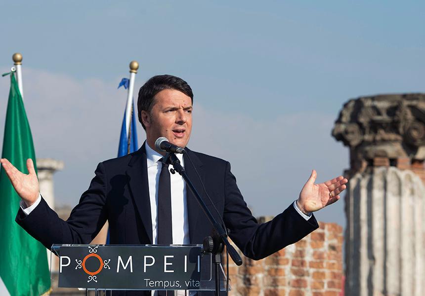 Renzi a Pompei