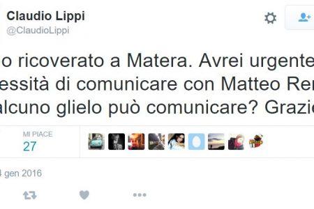Claudio Lippi, dall'ospedale, chiude aiuto a Renzi. Ma i tweet sono di un hacker