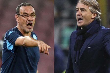 """""""Frocio"""", """"Razzista"""", scambio di insulti fra Sarri e Mancini: ma questo è sport?"""