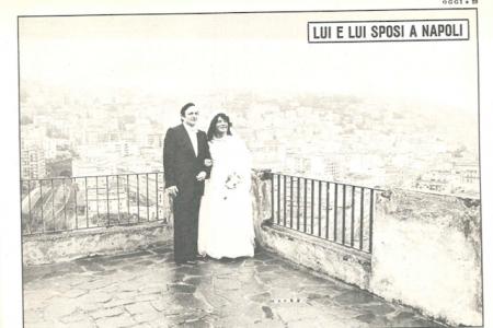 Foto storiche: lei e lui, sposi a Napoli nel 1978