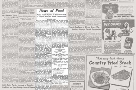 Anniversari. 20 settembre 1944, quando il New York Times scoprì la pizza. E impazzì…