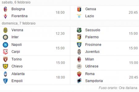 Serie A: Napoli-Carpi, Sassuolo-Palermo e le altre partite