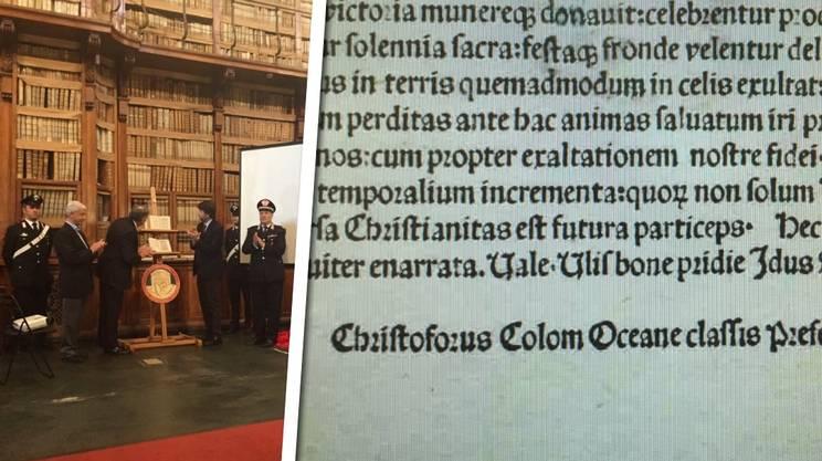 La lettera di Cristoforo Colombo rientrata in Italia? Falsificata grazie a una stampante a secco