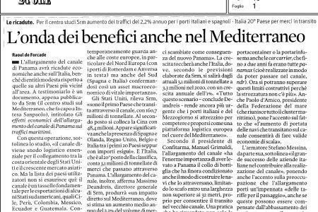 L'onda dei benefici anche nel Mediterraneo