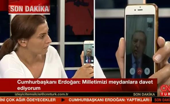 Turchia, Il tentato golpe e la video-telefonata