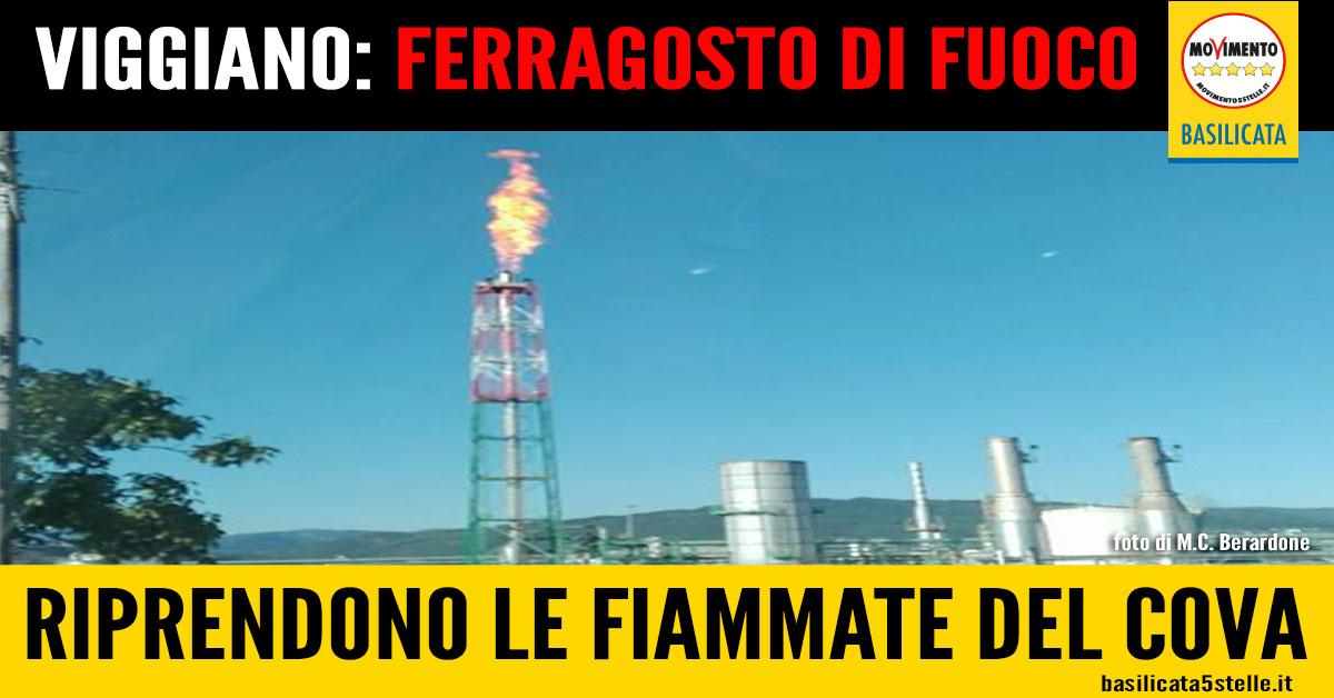 Ferragosto infuocato a Viggiano: il centro oli ha ricominciato a sputare fuoco nei cieli della Val D'Agri