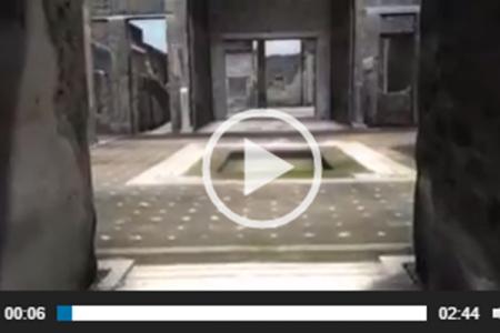 Un viaggio virtuale in un'antica casa di Pompei, guarda il video