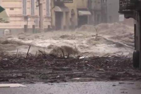 Piemonte e Liguria con l'incubo alluvione, Italia spaccata in due