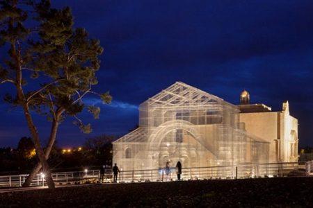 Siponto: ricostruita con la rete metallica la Basilica di Santa Maria Maggiore