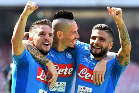 Il Napoli pranza alle ore 9, gli spaghetti bloccano gli stomaci juventini: Napoli Cagliari 3 – 0