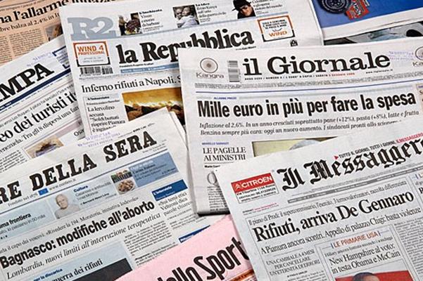 Le notizie in evidenza sui giornali di martedì 19 marzo