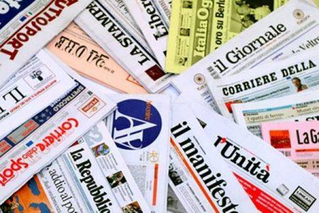 Sui Giornali. Berlusconi lancia Tajani – Scende il debito