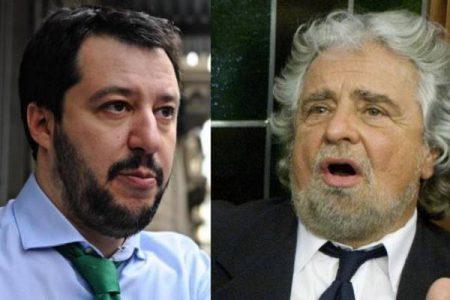 Italia spaccata in due: il Nord a Salvini, il Sud a Grillo