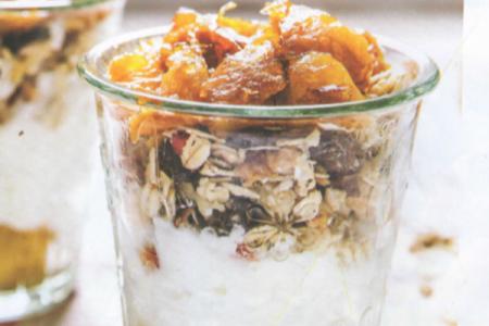 Ricette di primavera, yogurt con muesli e arance