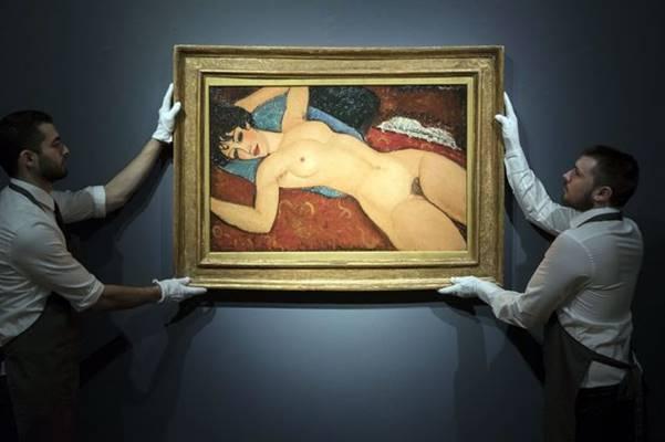 Asta record, 157 milioni per un nudo di Modigliani