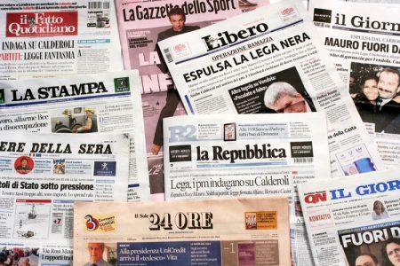 Le notizie sulle prime pagine dei giornali di lunedì 12 novembre