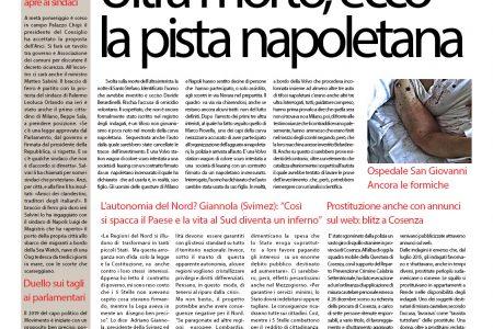 Il SudOnLine quotidiano del 4 gennaio 2019: Ultra interista morto, la pista napoletana – Il Sud nella morsa del gelo – Napoli ricorda Pino Daniele