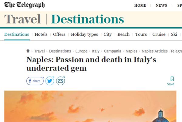 """Il cronista del Daily Telegraph incorona Napoli: """"Così mi sono innamorato di questa città…"""""""