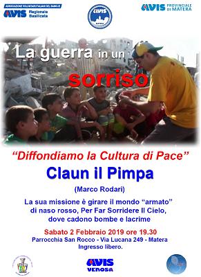 A Matera appuntamento con Marco Rodari, il clown Pimpa