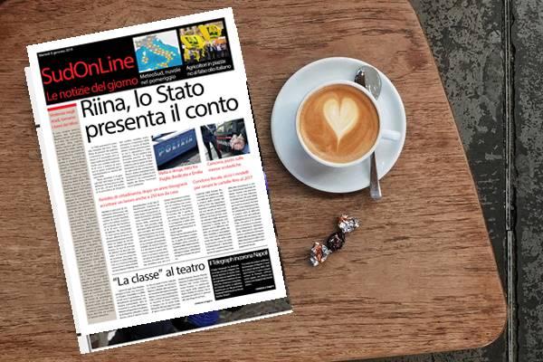 Il SudOnLine quotidiano di martedì 8 gennaio. Riina, lo Stato vuole 2 milioni per le spese del carcere – Il Telegraph incorona Napoli, è la città più bella