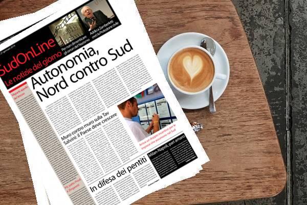 Il SudOnLine quotidiano del 27 gennaio 2019. Autonomia, guerra fra Nord e Sud – Doppio incentivo per le imprese che assumono nel Mezzogiorno – Il giorno della Memoria, così il Sud ricorda gli orrori del nazismo – Addio a Zamberletti – Solo un pari fra Milan e Napoli