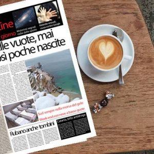 SudOnLine quotidiano di venerdì 11 gennaio 2019: Genitori cercasi, mai così poche nascite in Italia – Sud nella morsa del gelo – Misteriosi segnali radio dallo spazio profondo