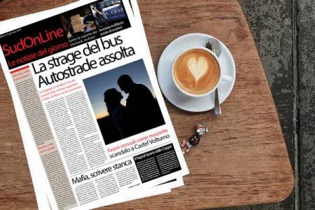 SudOnLine quotidiano di sabato 12 gennaio. La strage del Bus, autostrade assolte e scoppia l'ira dei parenti – Scandalo al Comune di Castelvolturno: favori sessuali come mazzette – I rischi di chi scrive sulla mafia…