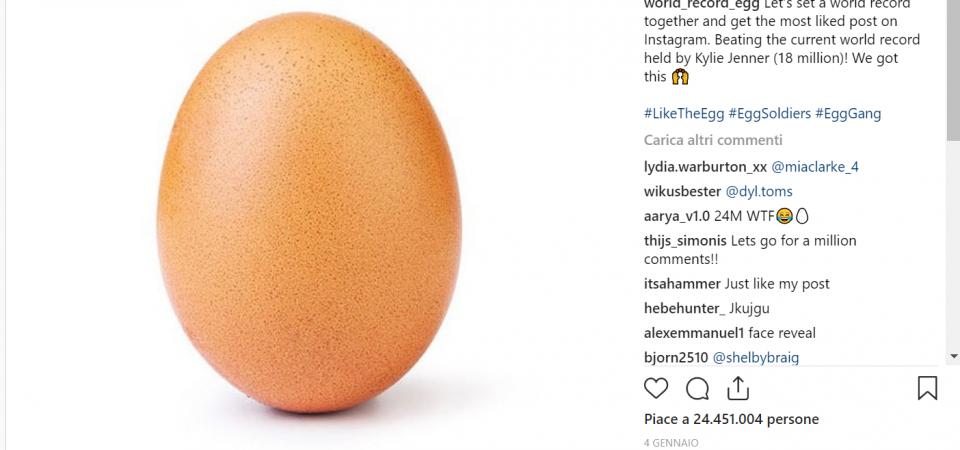 L'uovo di Instagram, ecco il post più amato di sempre. Eppure è solo un uovo