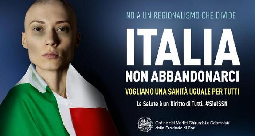 No all'autonomia del Nord, il manifesto choc dei medici di Bari