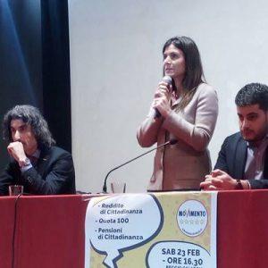 I Cinquestelle in Calabria per spiegare Quota 100 e Reddito di Cittadinanza