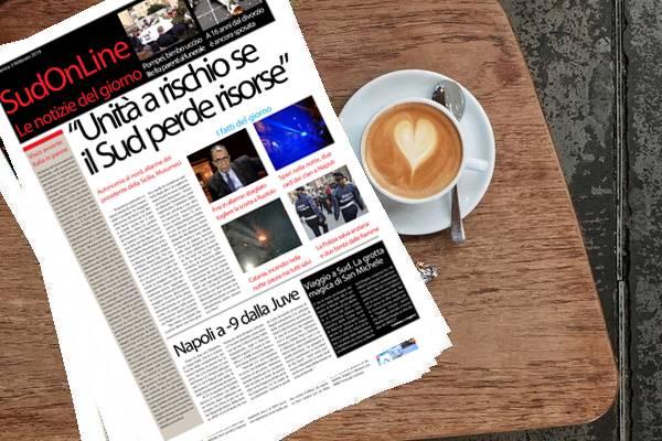 Il Sud On Line quotidiano di Domenica 3 febbraio. Autonomia al Nord, si rischia l'unità del Paese – Viaggio al Sud, la grotta magica di San Michele – La Juve frena e il Napoli guadagna terreno
