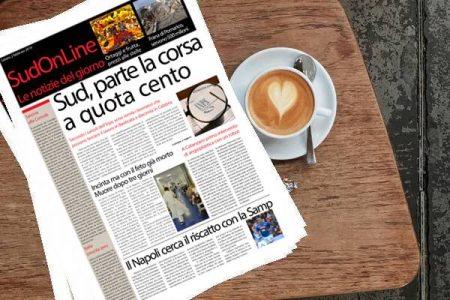 Il SudOnLine quotidiano. Pensioni, parte la corsa a quota Cento in Calabria e in Basilicata – Choc a Napoli, muore una donna incinta: portava in grembo un bimbo già morto ma i medici non se ne accorgono – A Catanzaro il primo robot che interviene sul cuore