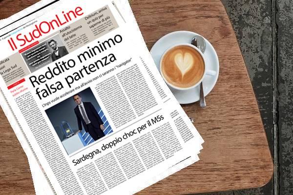 Il Sud On Line Quotidiano – Reddito di cittadinanza, si parte il 6 marzo – Elezioni in Sardegna, doppio choc per il M5s – Sardegna, assalto all'autocisterna del latte