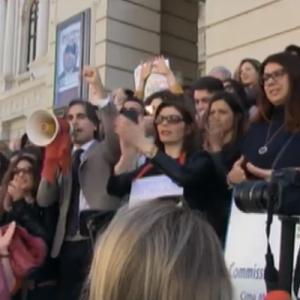 """""""Siamo tutti Maria Rositani"""", donne in piazza contro la violenza"""