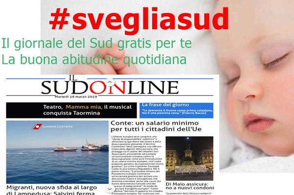 SudOnLine quotidiano del 19 marzo 2019. Migranti, nuovo braccio di ferro al largo di Lampedusa – Conte: salario minimo per tutti i cittadini Ue – Catania, sold out per il musical Mamma Mia