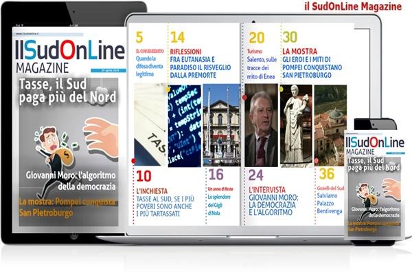 61 – Il SudOnLine Magazine. Tasse, il Sud paga di più – Pompei conquista San Pietroburgo – Le Feste del Regno di Napoli: i Gigli di Nola